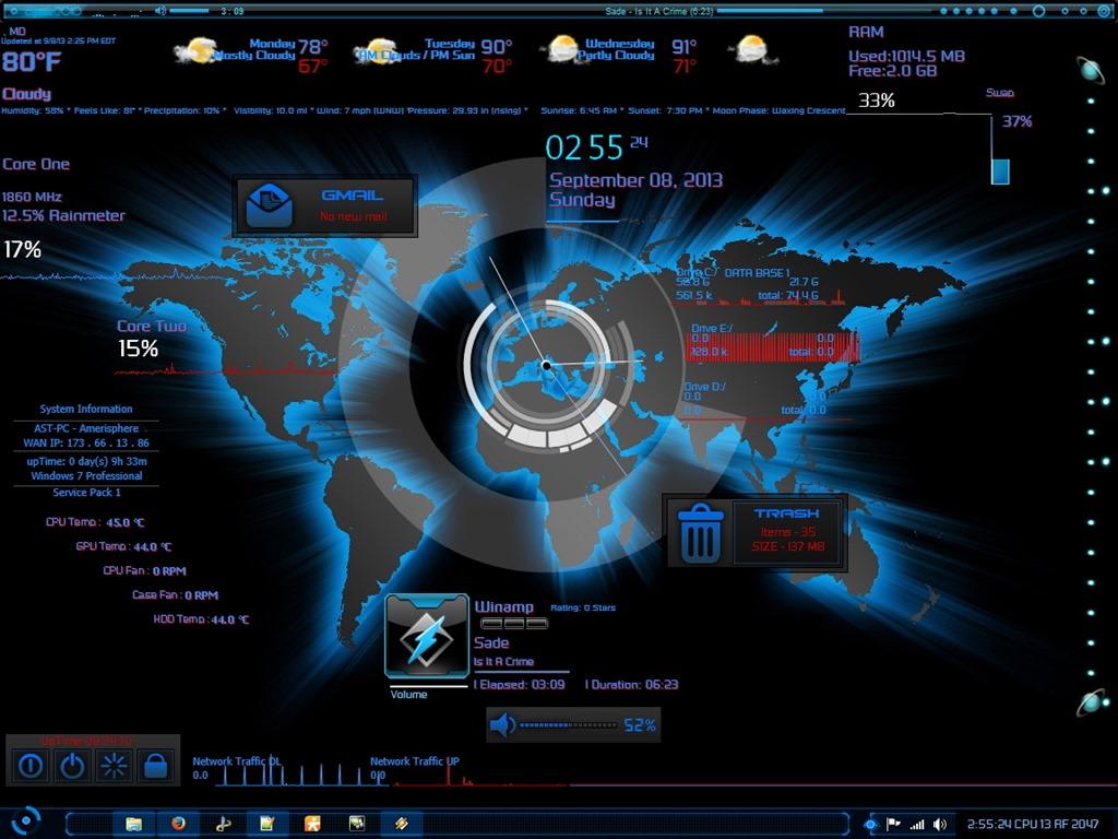 Requires: rainmeter 300 beta r2085 32-bit (aug 26 2013) or higher