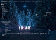 Rainmeter Skin Snowbird (Night)