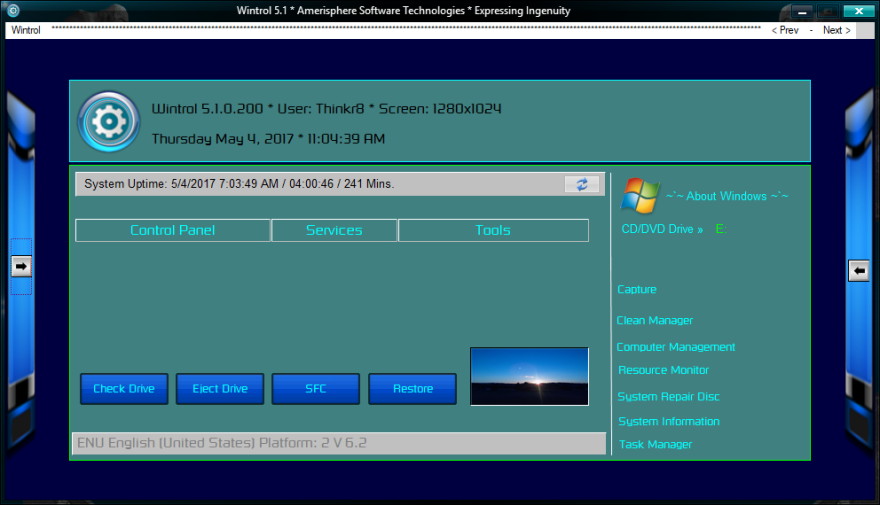 Wintrol 5 Windows Control Panel Utility +