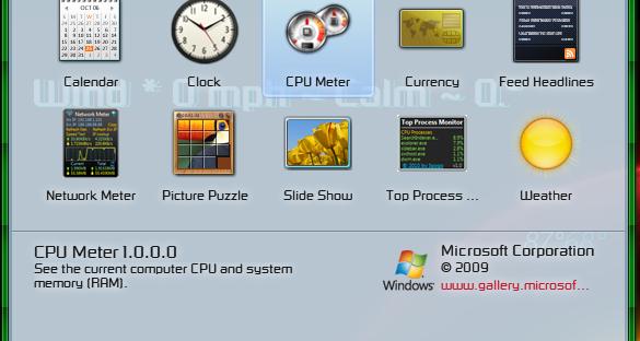 gadgets/windows